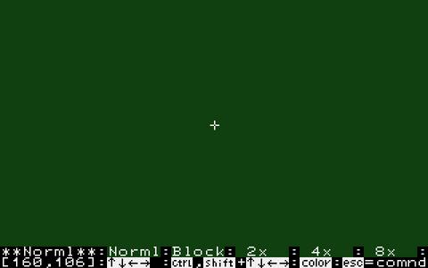 Graphic Editor V1.1 - 編集画面 (SMC-70)(1982)(Sony)