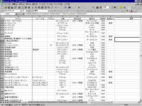 Gameデータ管理用DB